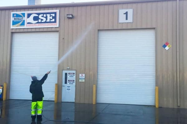 Commercial Pressure Washing Industrial Warehouse