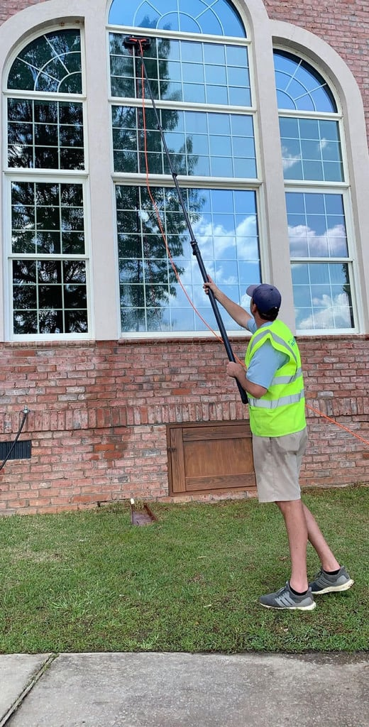 Waterfed Pole Window Cleaning in Lexington SC