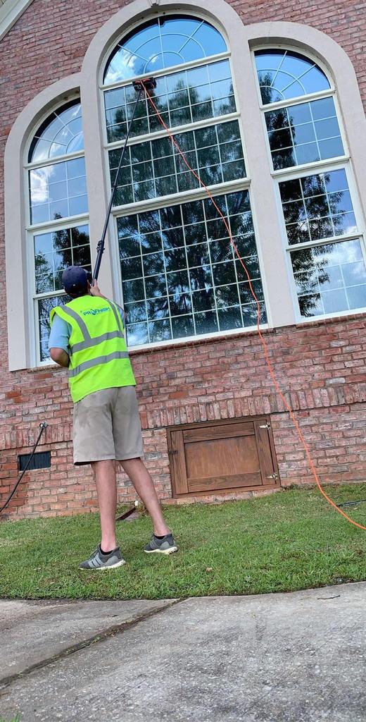 Waterfed Pole Window Cleaning in Greenville SC