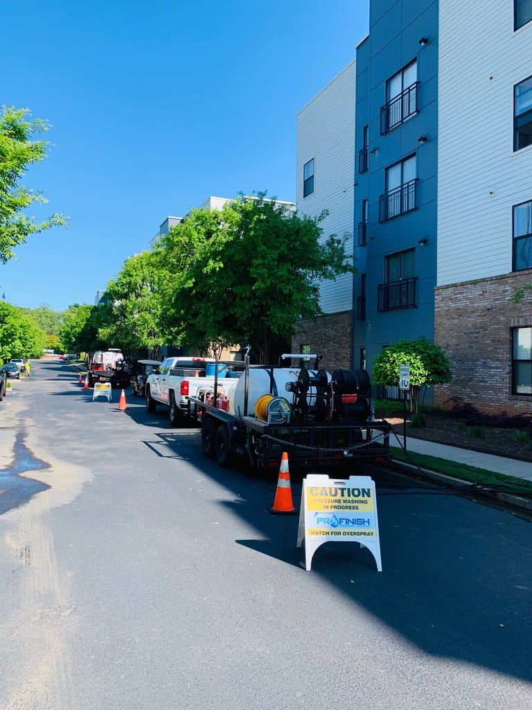 pressure washing apartment complex - Greenville SC