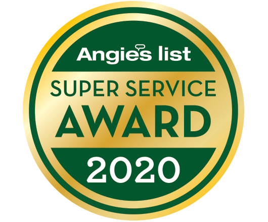 Angies list Super Service awards badge for 2020