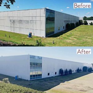 Pure Power Technologies Manufacturing Plant before and after Low Pressure Wash